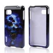 Blue Skull Hard Case for LG Optimus F3 - Sprint/ Virgin Mobile