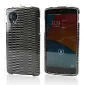 Black/ Gray Carbon Fiber Design Hard Case for LG Google Nexus 5