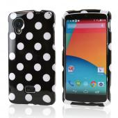 White Polka Dots on Black Hard Case for LG Google Nexus 5