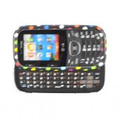 LG Cosmos 2 VN251 Hard Case - Rainbow Polka Dots on Black