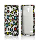 Rainbow Leopard on Silver Hard Case for LG Optimus L9