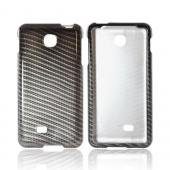 LG Escape Hard Case - Black/ Gray Carbon Fiber Design