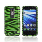 LG Nitro HD Hard Case - Green/ Black Zebra