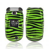 LG Revere VN150 Hard Case - Green/ Black Zebra