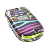 LG Revere VN150 Hard Case - Rainbow Zebra on Black