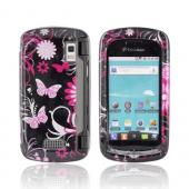 LG Genesis VS760 Hard Case - Pink Flowers & Butterflies on Black