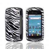 LG Genesis VS760 Hard Case - Silver/ Black Zebra