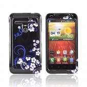 LG Revolution, LG Esteem Hard Case - White Flowers on Black