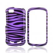 Motorola CLIQ 2 Hard Case - Purple/Black Zebra