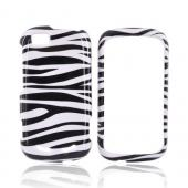 Motorola CLIQ 2 Hard Case - Black/White Zebra
