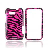 Motorola Defy Hard Case - Black/Hot Pink Zebra