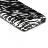 Silver/ Black Zebra Hard Case for Motorola Droid RAZR MAXX HD