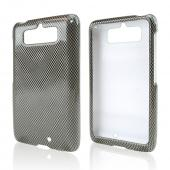 Dark Gray/ Black Carbon Fiber Design Hard Case for Motorola Droid Mini