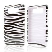 Black Zebra on White Hard Case for Motorola Droid Mini