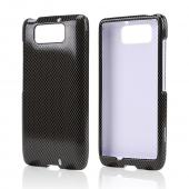 Dark Gray/ Black Carbon Fiber Design Hard Case for Motorola Droid Ultra/ Droid MAXX