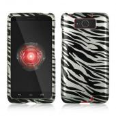 Black Zebra on Silver Hard Case for Motorola Droid Ultra/ Droid MAXX