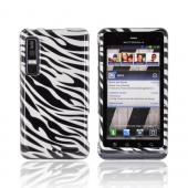 Motorola Droid 3 Hard Case - Black/ Silver Zebra