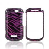 Motorola Clutch+ i475 Hard Case - Purple/ Black Zebra