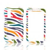 Motorola Photon 4G Hard Case - Colorful Zebra on White