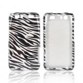 Motorola Atrix HD Hard Case - Silver/ Black Zebra