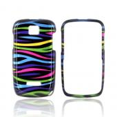 Motorola Theory Hard Case - Rainbow Zebra on Black
