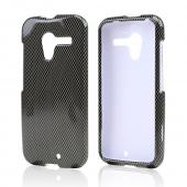 Black/ Gray Carbon Fiber Design Hard Case for Motorola Moto X