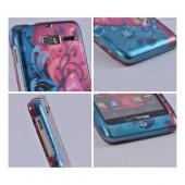 Motorola Droid RAZR M Hard Case - Hot Pink Butterfly Bliss