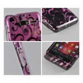 Black Vines on Pink Hard Case for Motorola Droid RAZR M