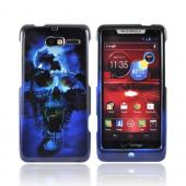 Motorola Droid RAZR M Hard Case - Blue Skull