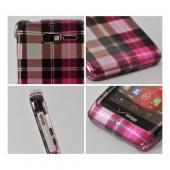 Plaid Pattern of Pink/ Hot Pink/ Brown/ Gray Hard Case for Motorola Droid RAZR M