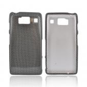 Motorola Droid RAZR HD Hard Case - Black/ Gray Carbon Fiber