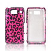 Motorola Droid RAZR HD Hard Case - Hot Pink/ Black Leopard