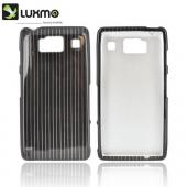 Motorola Droid RAZR HD Hard Case - Silver Lines on Black