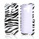 Black Zebra on White Hard Case for Motorola Moto X