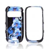 Nokia Astound C7-00 Hard Case - Blue Flowers on Black