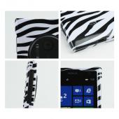 Black Zebra on White Hard Case for Nokia Lumia 1020