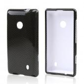 Black/ Gray Carbon Fiber Design Hard Case for Nokia Lumia 521