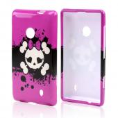 Hot Pink Skull w/ Bow Hard Case for Nokia Lumia 521
