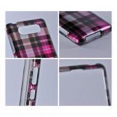 Pink/ Brown/ Gray Plaid Hard Case for Nokia Lumia 820
