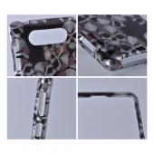 Silver Skulls on Black Hard Case for Nokia Lumia 820
