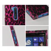 Hot Pink/ Black Leopard Hard Case for Nokia Lumia 920