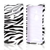 Black Zebra on White Hard Case for Nokia Lumia 925