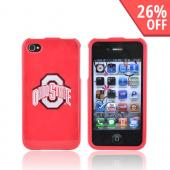 MLB Licensed Apple Verizon/ AT&T iPhone 4, iPhone 4S Hard Case - Ohio State Buckeyes