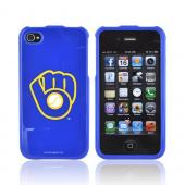 MLB AT&T/ Verizon Apple iPhone 4, iPhone 4S Hard Case - Milwaukee Brewers