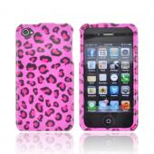 AT&T/ Verizon Apple iPhone 4, iPhone 4S Hard Case - Hot Pink/ Black Leopard