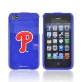 MLB Licensed AT&T/ Verizon Apple iPhone 4, iPhone 4S Hard Case - Philadelphia Phillies