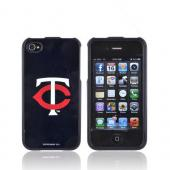 MLB AT&T/ Verizon Apple iPhone 4, iPhone 4S Hard Case - Minnesota Twins