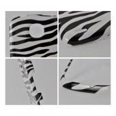 White/ Black Zebra Hard Case for Pantech Marauder