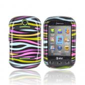 Pantech Pursuit 2 Hard Case - Rainbow Zebra on Black