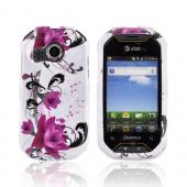 Pantech Crossover P8000 Hard Case - Pink Flowers on White